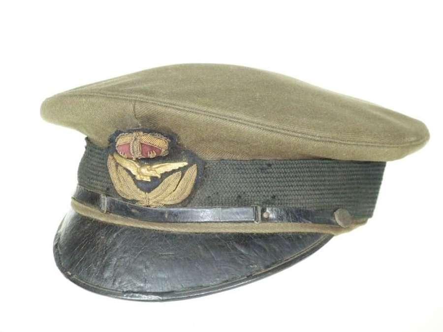 RAF 1918 Pattern Officer's Khaki Service Dress Cap