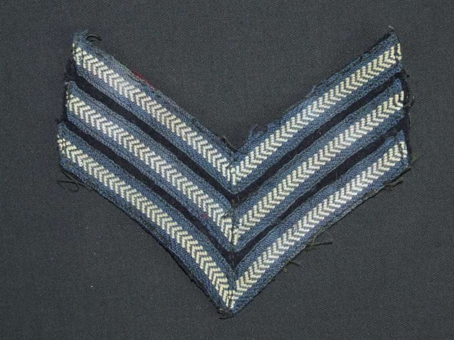 Single Set of RAF Sergeant's Stripes