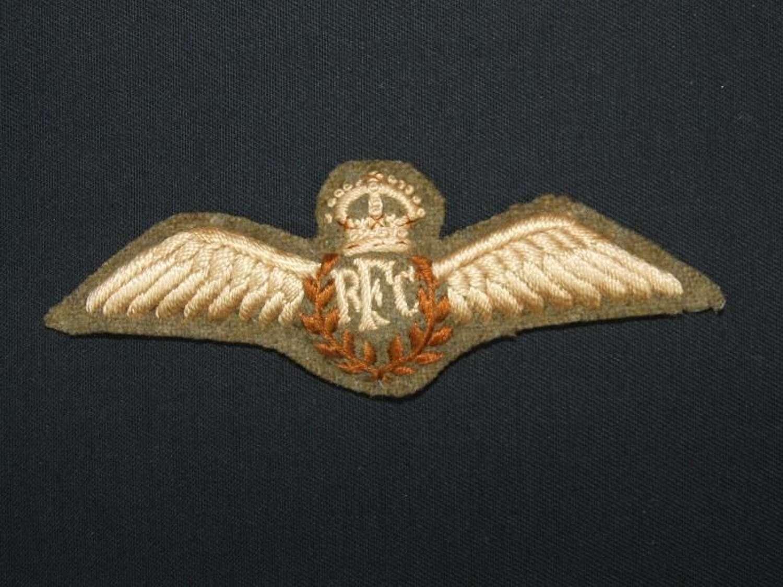 Post WW1 RFC Pilots Wings for Later Service Wear