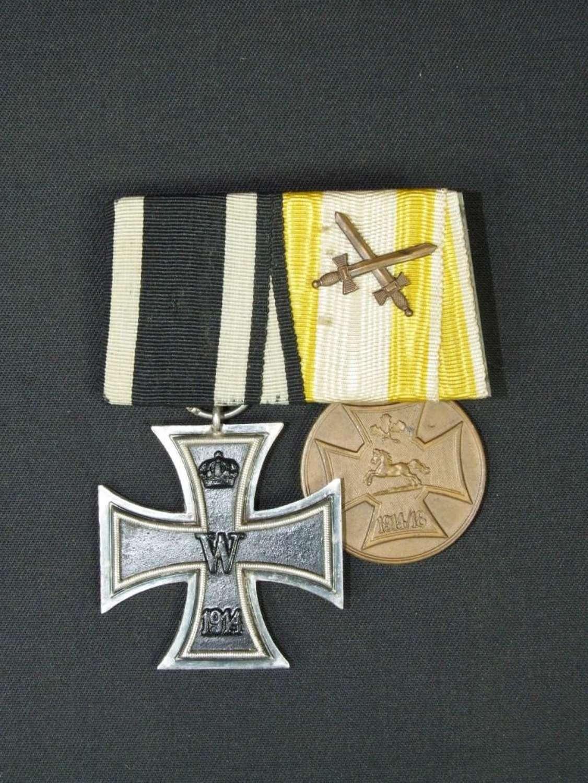 WW1 German Court Mounted Pair