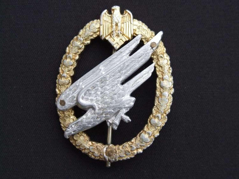 Army Fallschirmjager Badge by Juncker in Aluminium