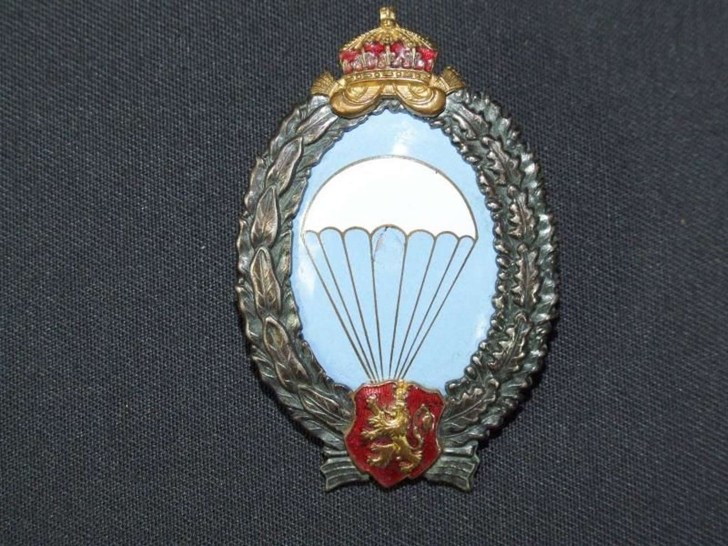WWII Bulgarian Paratrooper's Badge. First Pattern