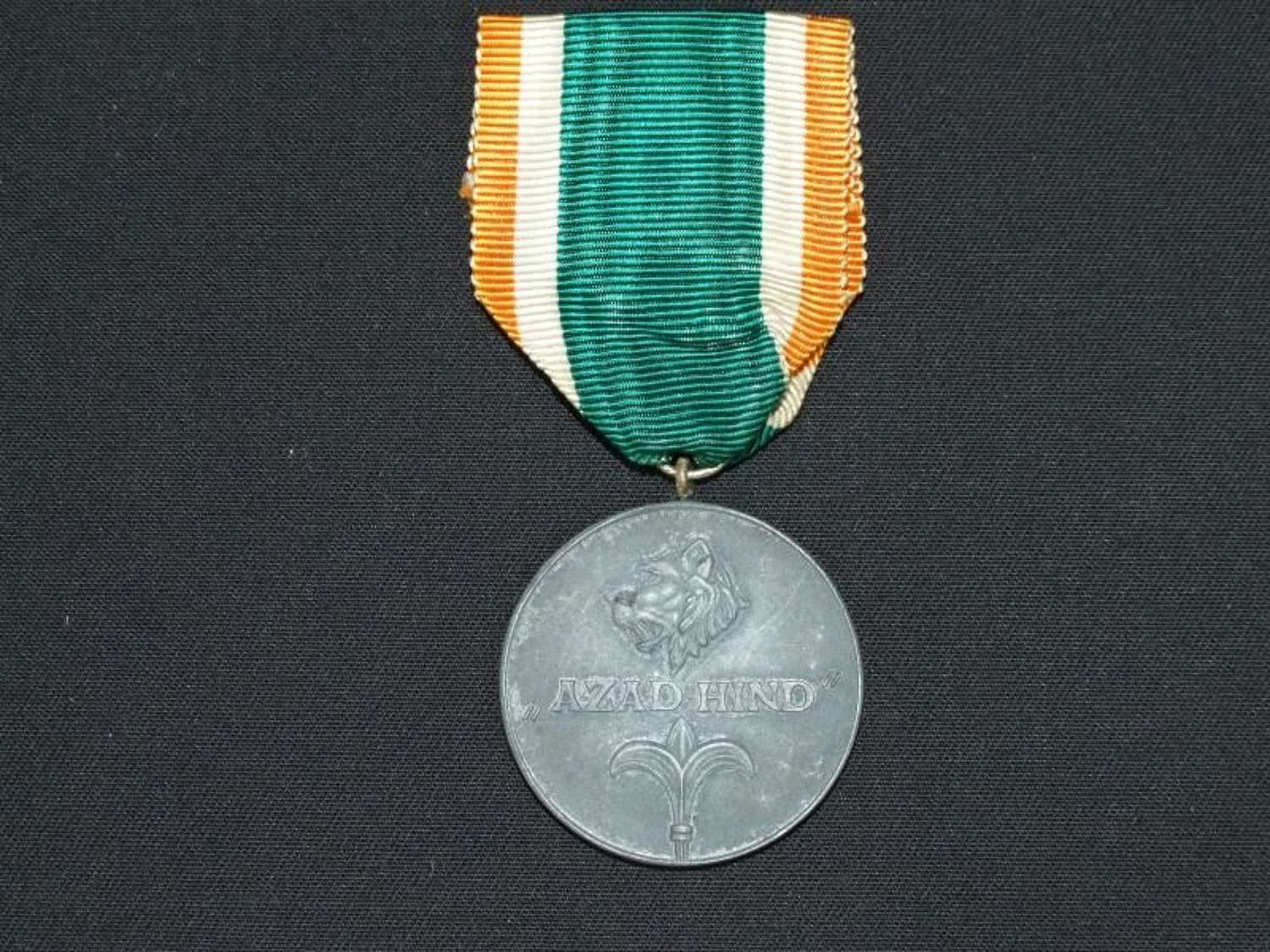 A Tamgha-e-Bharat (Soldier's Medal) Azad Hind Medal without Swords