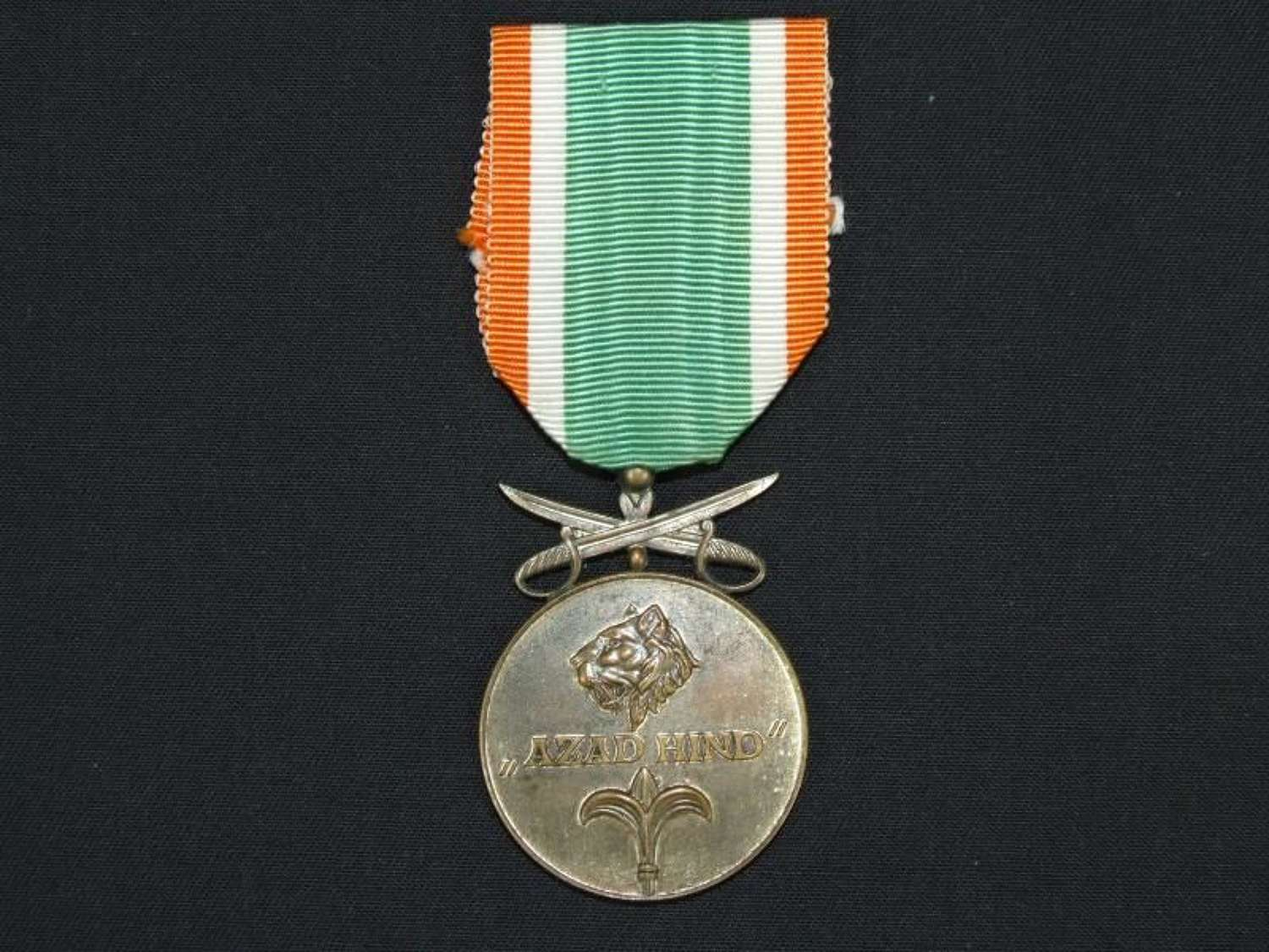 Azad Hind Medal in Silver with Swords for Combatant.