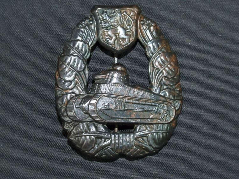 An Inter-War Czechoslovakian Tank Crew Badge