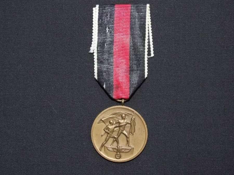 1938 Commemorative Sudetenland Medal