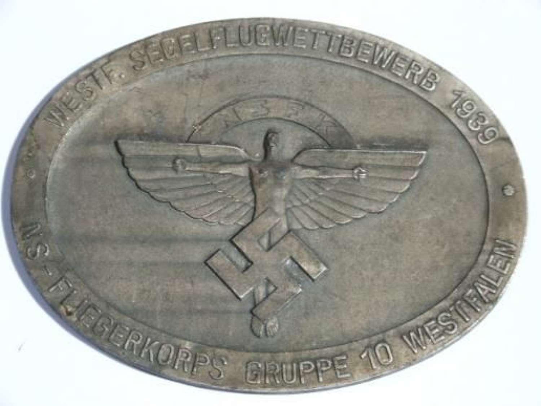 1939 Dated NSFK Non Portable Award for Gliding