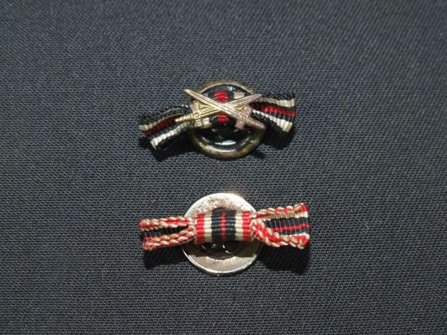 Two German Button Hole medal Ribbons