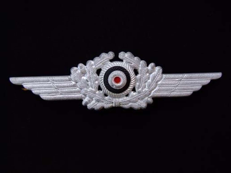 Luftwaffe Man's / NCO Cap insignia