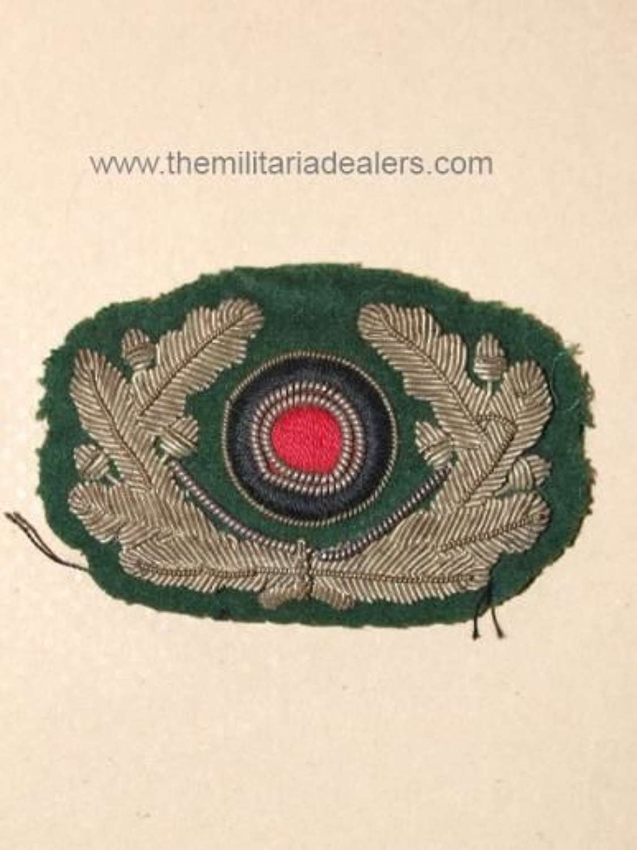 Heer Officer's Silver Wire Cap Cockade