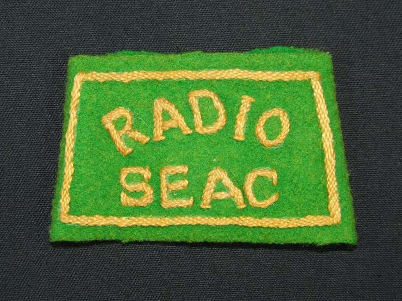 Radio SEAC (South East Asia Command) Cloth Slider