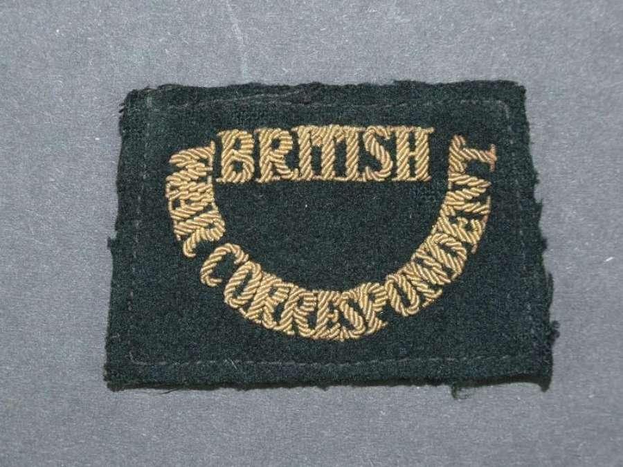 British War Correspondent Shoulder Slip