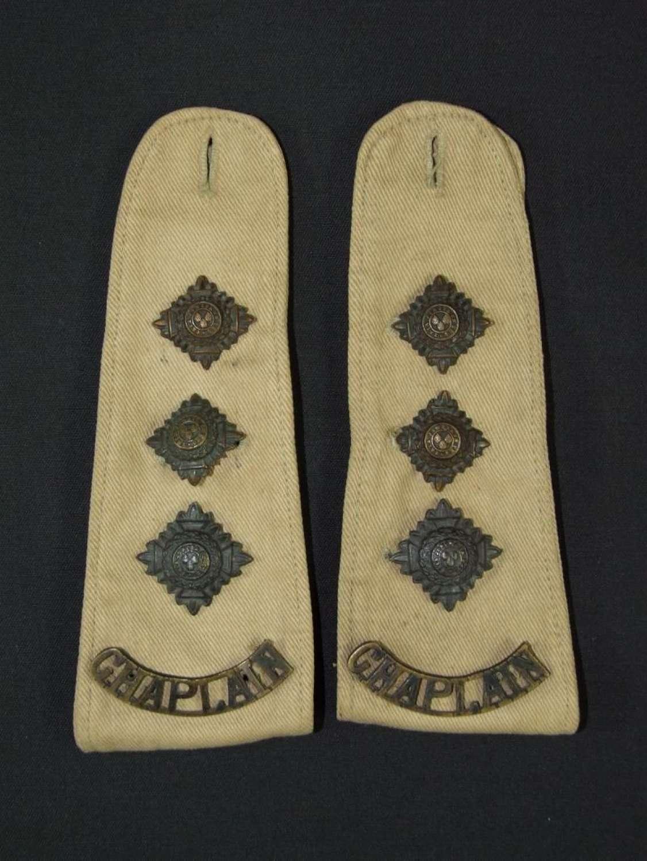 Chaplain's Shoulder Straps in Khaki Drill