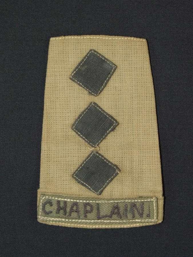 Tropical Shoulder Slide to a Chaplain