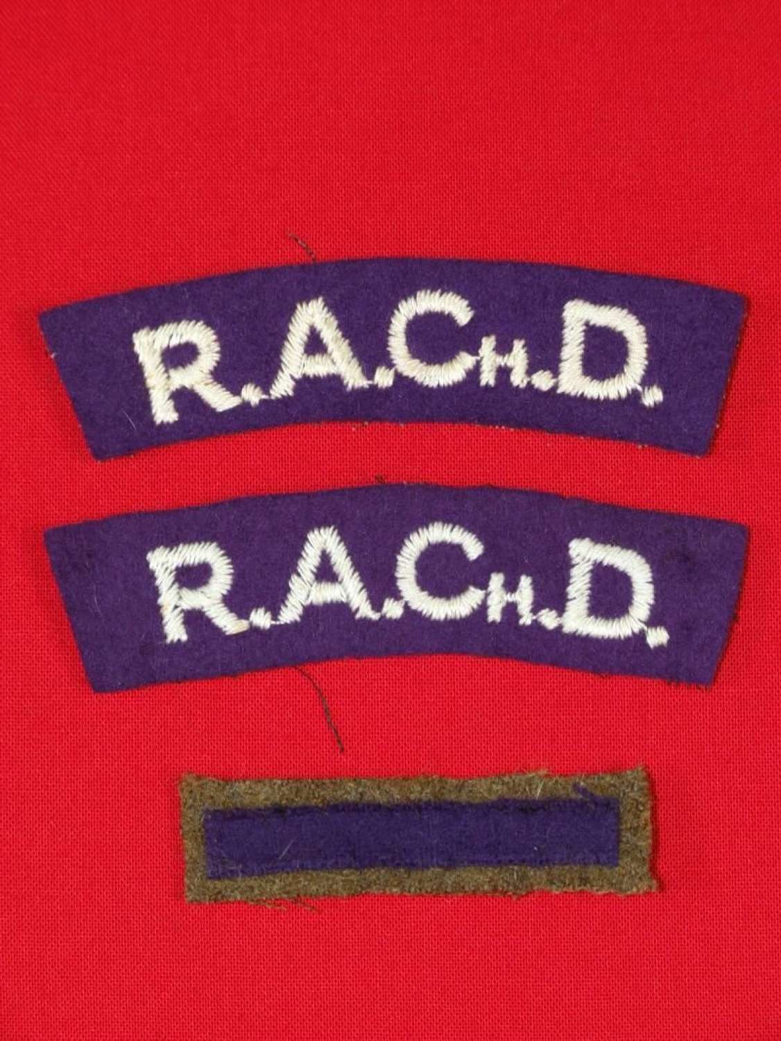 Royal Army Chaplains Department Shoulder titles  & Branch of Service S