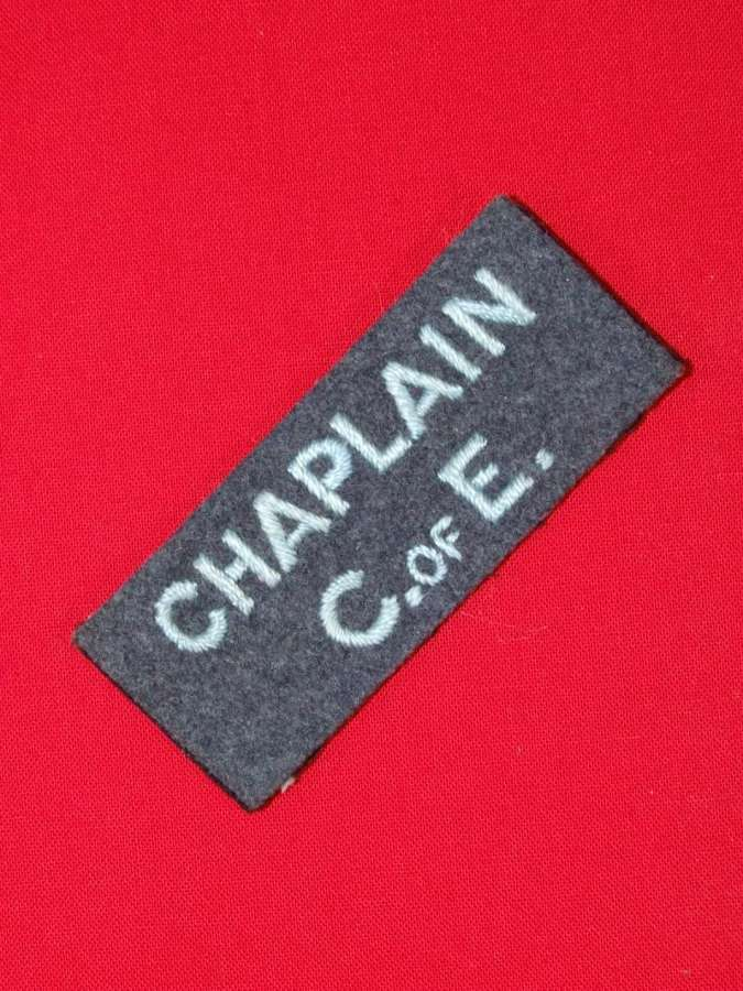 RAF Chaplain C of E Shoulder Title