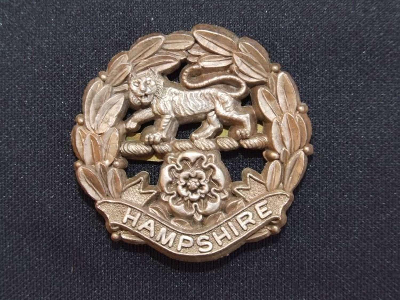 Wartime Plastic Economy Badge - The Hampshire Regiment