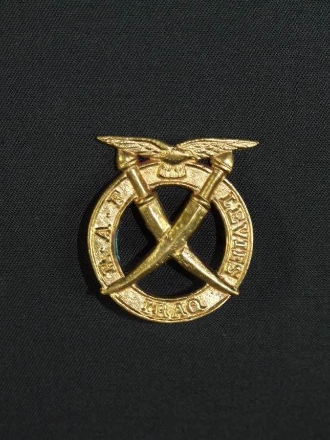 RAF Levies Iraq Cap Badge