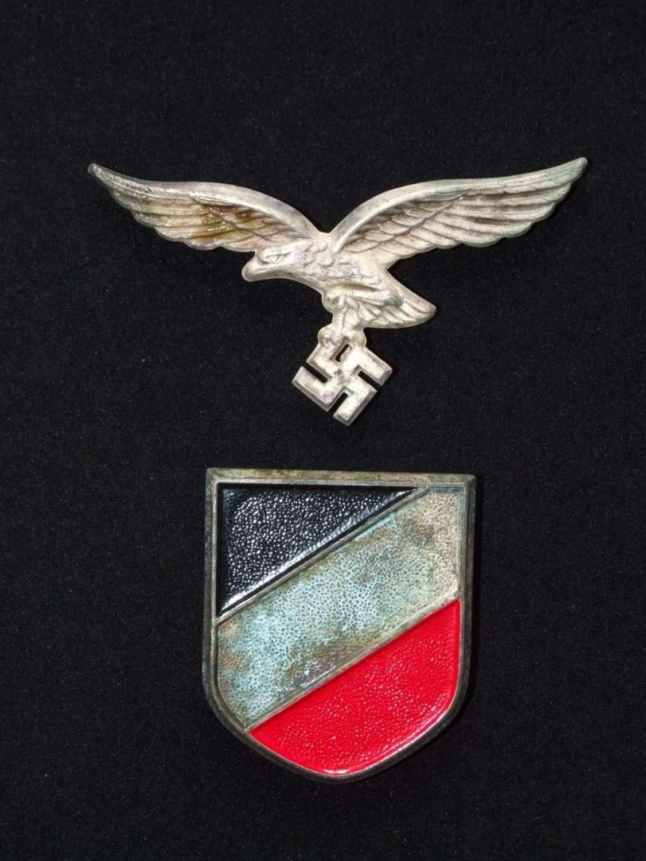 Luftwaffe Pith Helmet Insignia Set