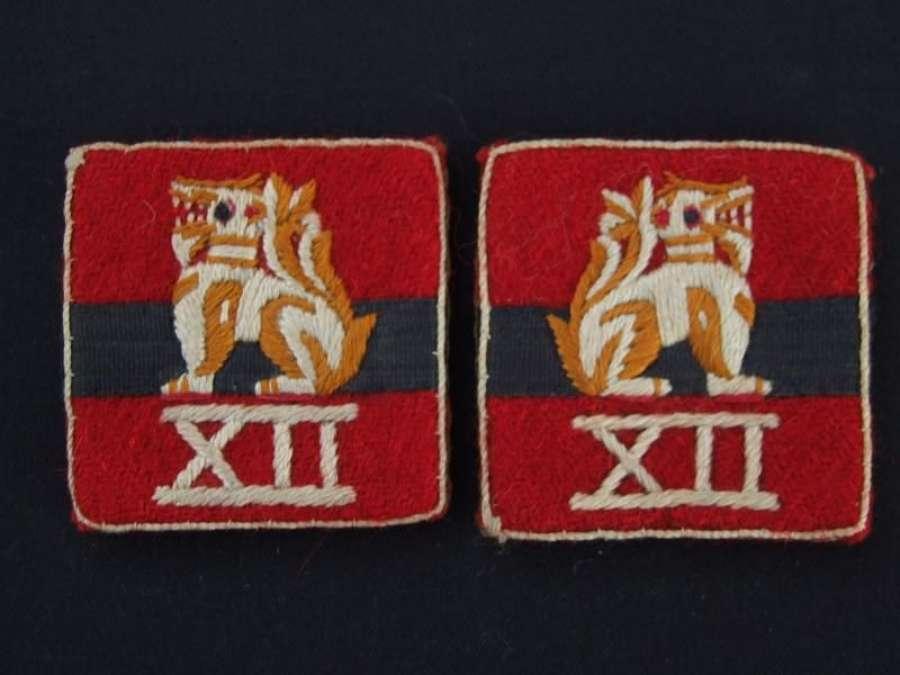 British 12th Army Uniform Formation Signs