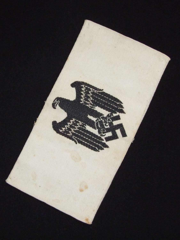 German Army Recruiting personnel Armband (Wehrersatzdienststellen Ã