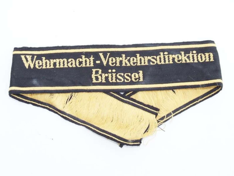Wehrmacht-Verkehrsdirektion Brussels Sleeveband