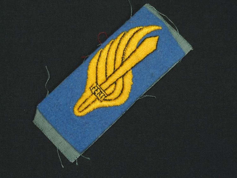 WW11 Collar Tab for an Enlisted Parachutist in the Royal Italian Army