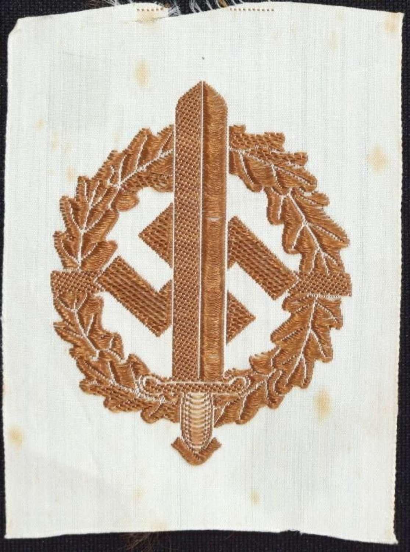 Bronze Grade SA Sports Badge in Cloth