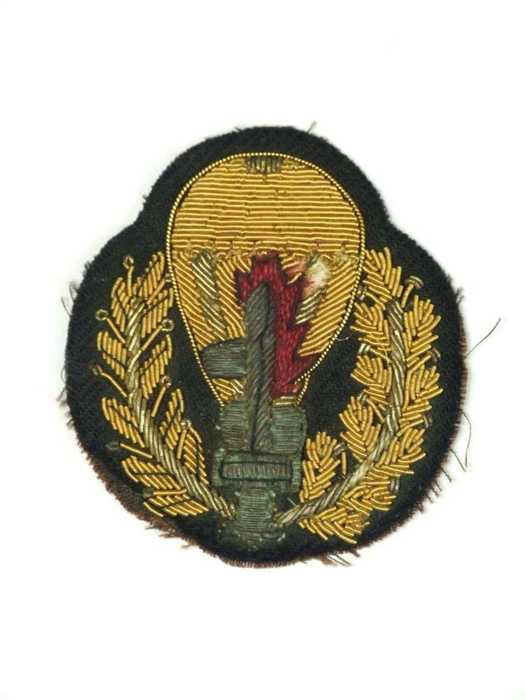 WW11 Italian Gustatore Assault Parachutist Officer's Sleeve Brevet