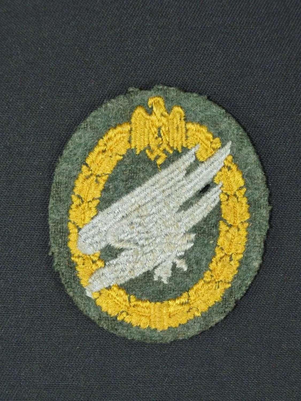 1943 Pattern Heer Fallschirmjager Cloth Badge