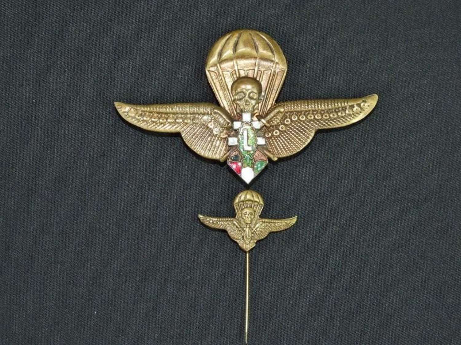 WW11 Hungarian Paratroop Wings to the Levente