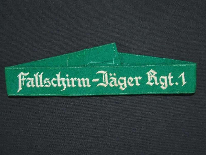 Fallschirm-Jäger Rgt.1 Cuffband for Enlisted Men