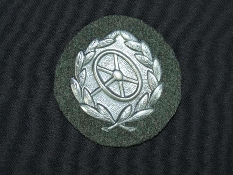 Heer Driver Proficiency Sleeve Badge in Silver