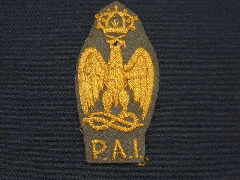 A scarce WW11 Italian African Police Badge