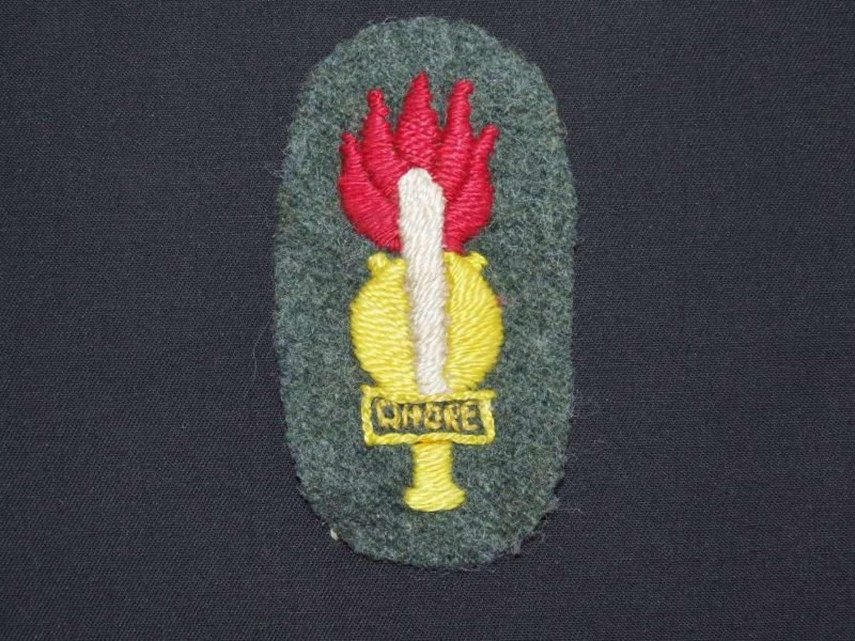 Italian Guastatori (Elite Assault Engineer's) Sleeve Badge