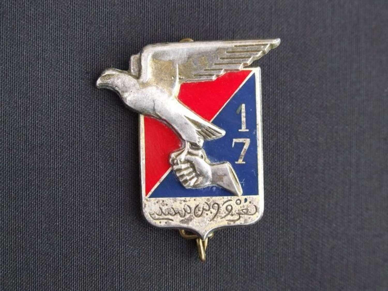 WW11 French Moroccan 17th Signal Regiment Breast Badge