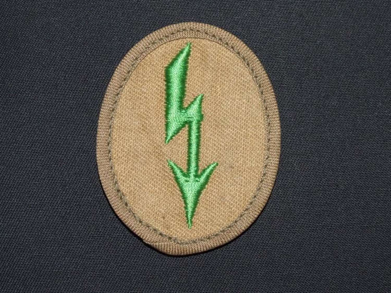 "Tropical Panzer Grenadier Signals Personnel ""Blitz"" Sleeve Badge"