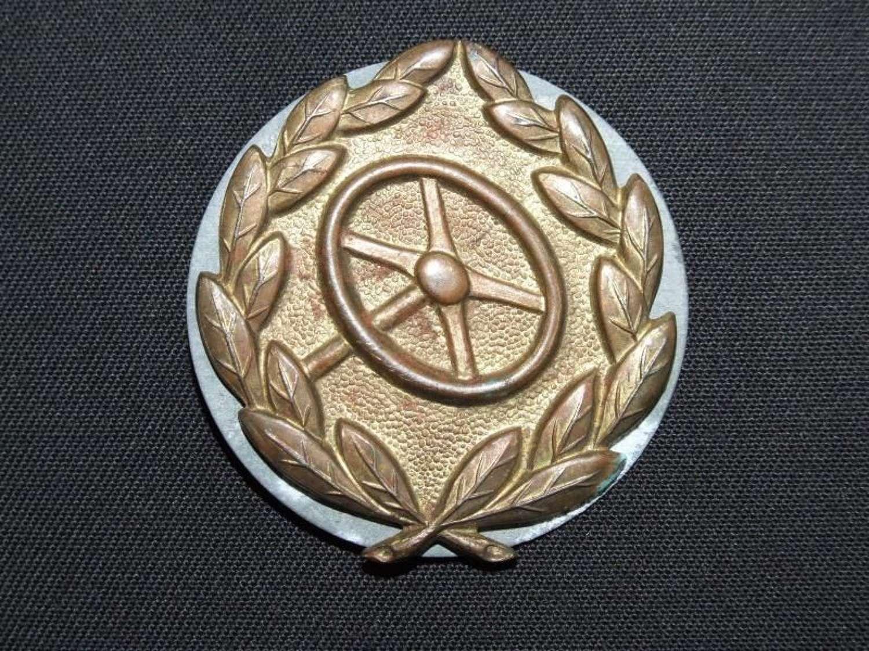 A Bronze Grade  Driver's Proficiency Badge