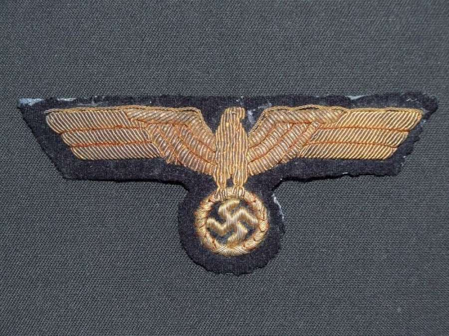 Kriegsmarine Breast Eagle in Golden Wire