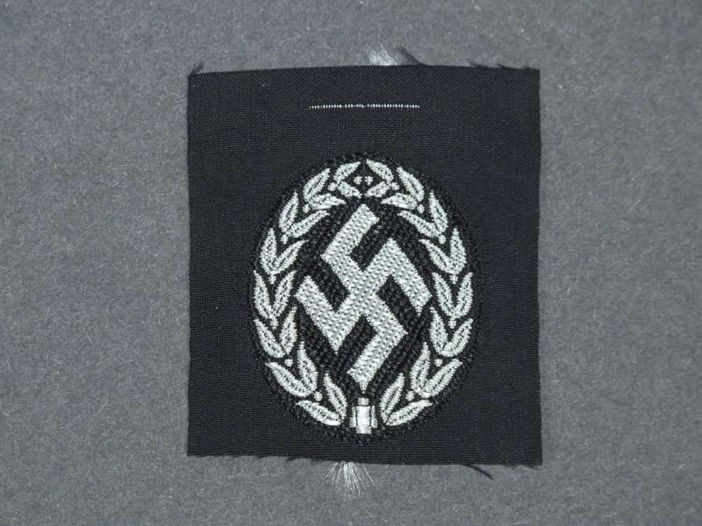 Schutzmannschaft Auxiliary Police Cap badge
