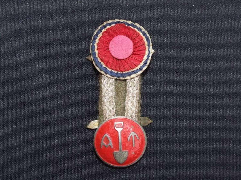 WW11 Norwegian Arbeidstjenesten (Volunteer Labour Force) Cap Badge
