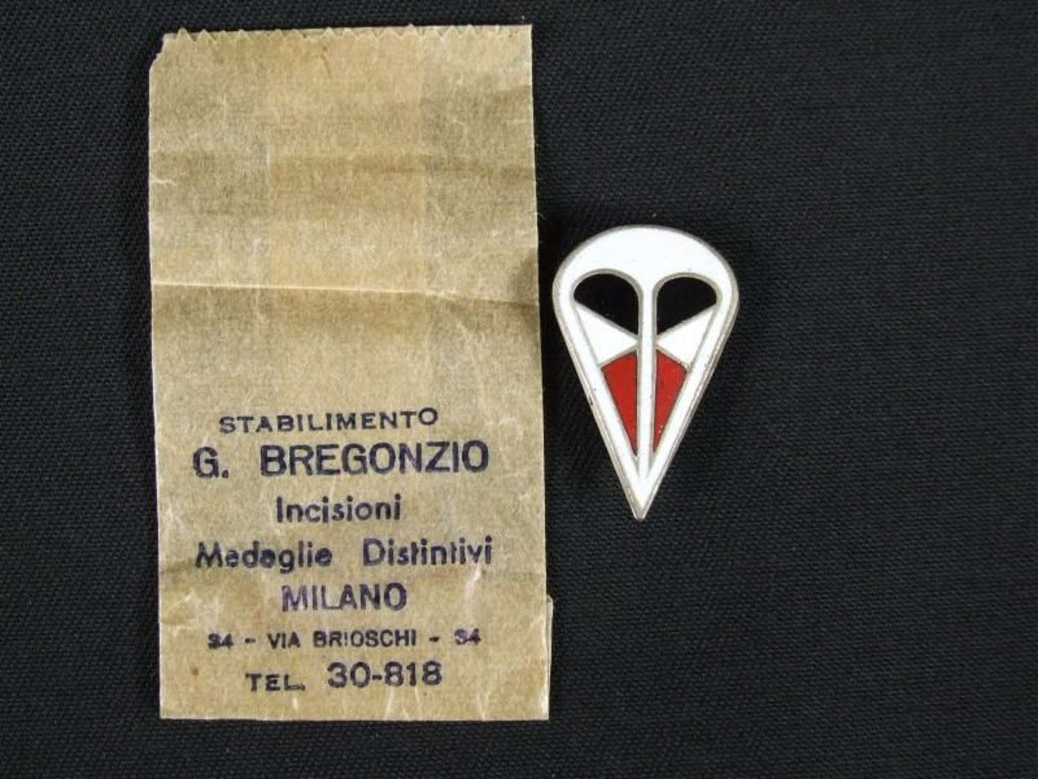 Traditions Badge of the 1st. Fallschirm Korps in Italy