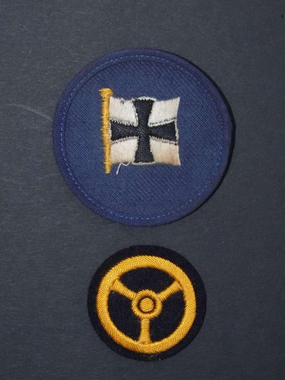 Two Kriegsmarine Career Insignia Sleeve Badges
