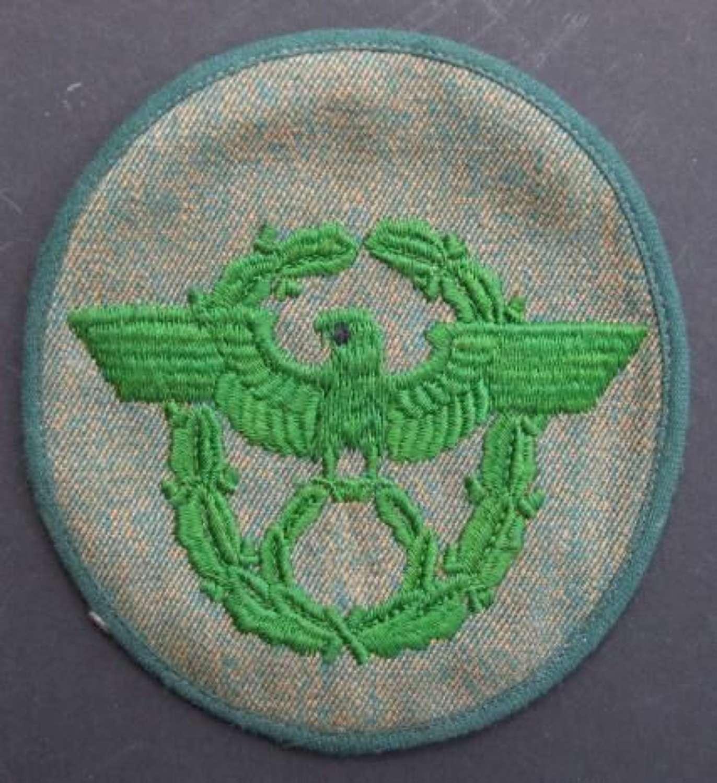 Unfinished Schutzpolizei Sleeve Badge.