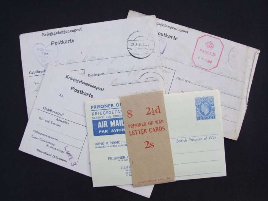 4 POW Letters Including one Unissued from Stalag Luft 3