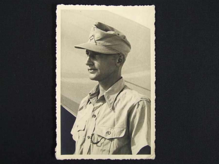 Picture Postcard - Afrika Korps Soldier