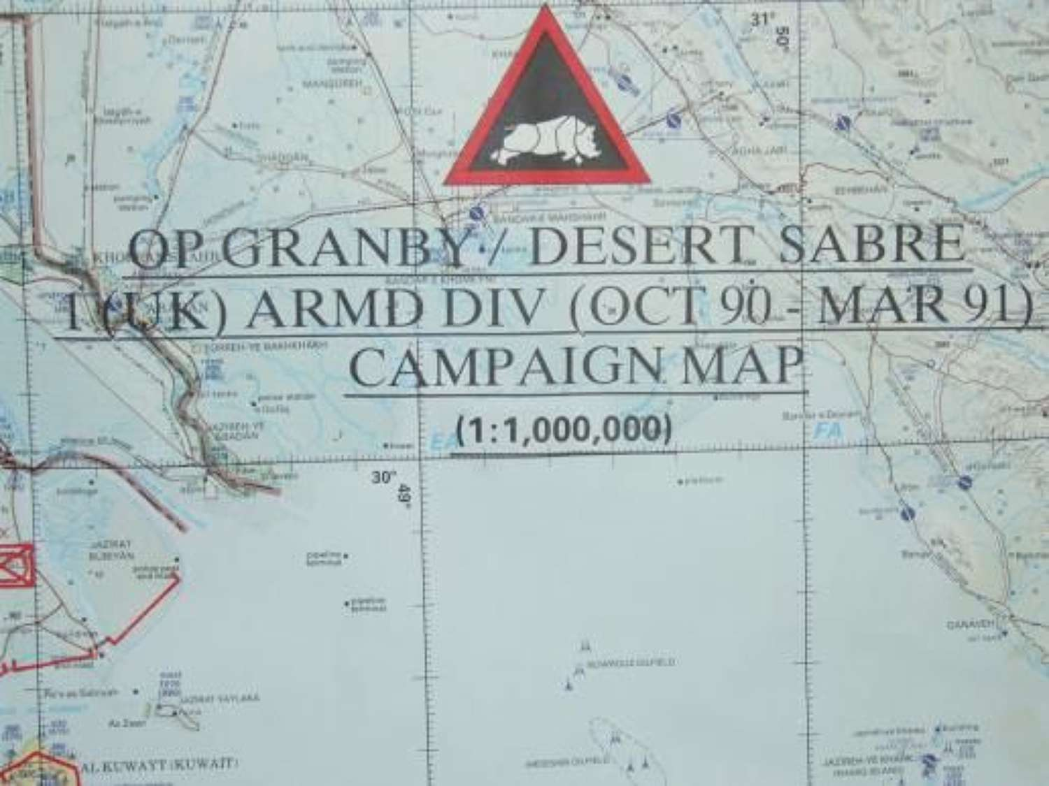 First Gulf War Campaing Map Operation Granby