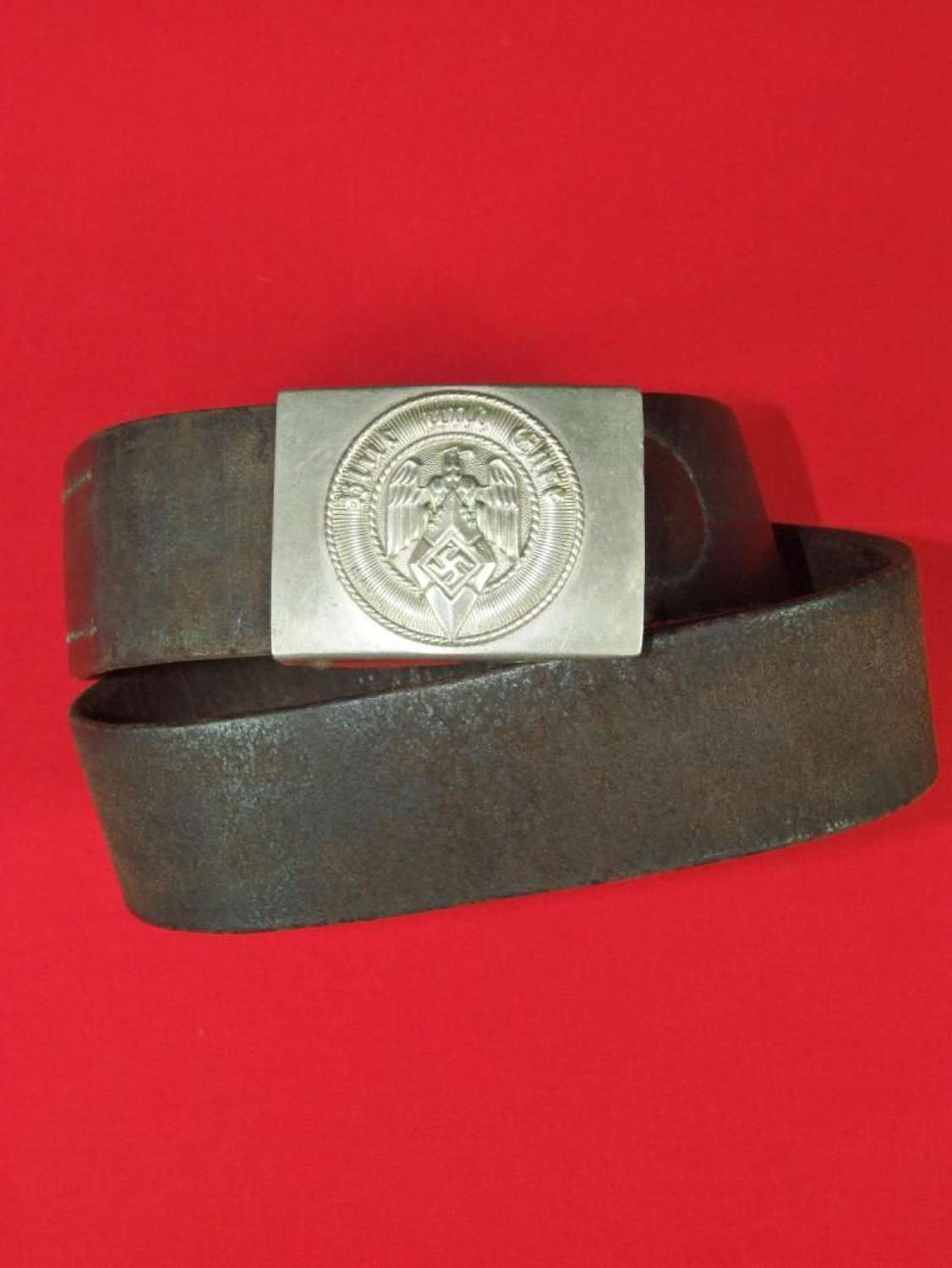 Hitler Youth Belt with Nickel Silver Buckle by F.W. Assmann & Söhne