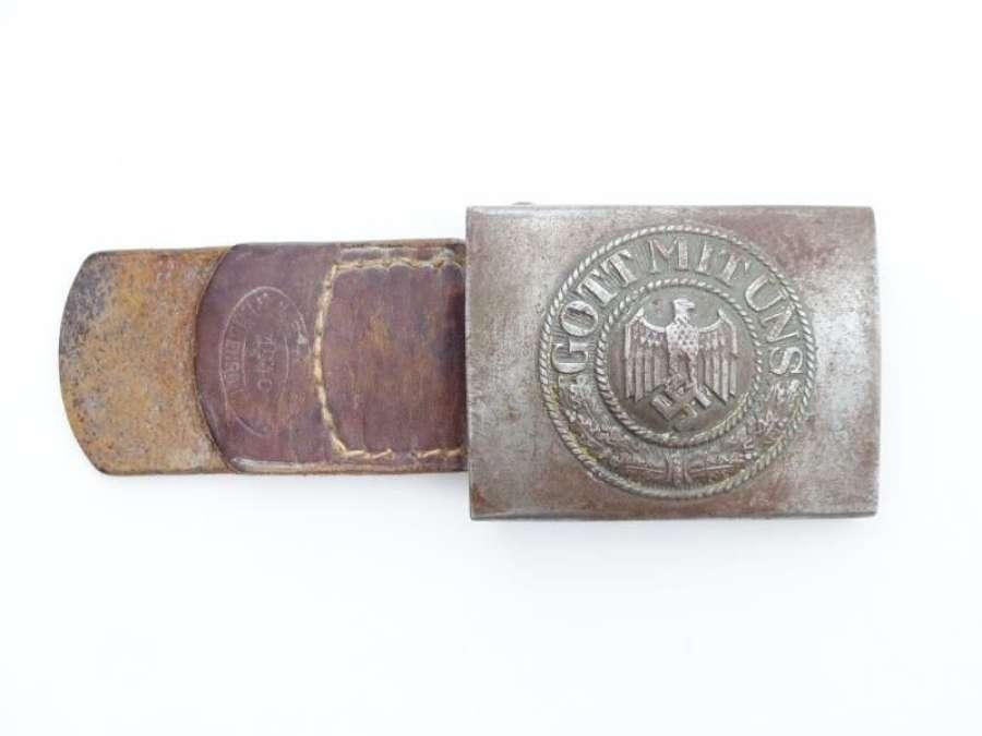 1940 Dated Heer Belt Buckle and Tab