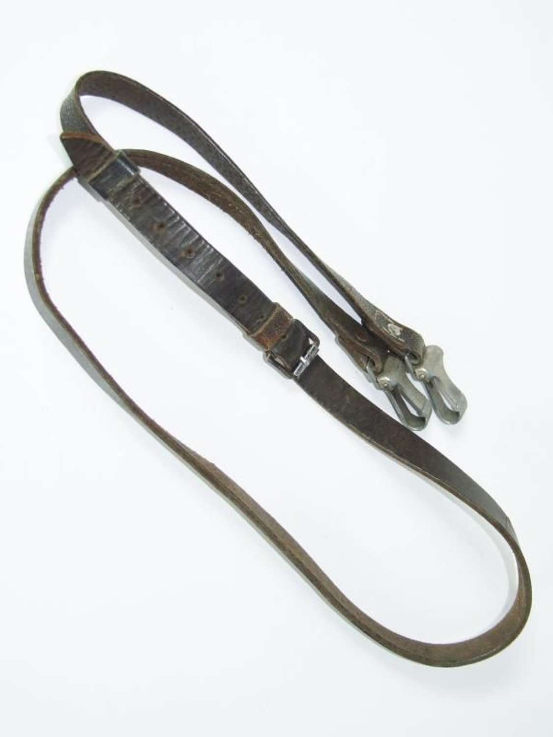 Black Leather Cross Strap. SS or Hitler Youth